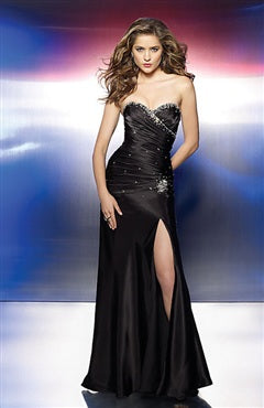 Floor-length A-line Sweetheart Leg Slit Prom Dress