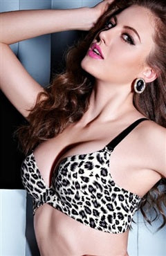 Leopard Plunge Push-Up Bra, Style Code: 09724, US$42.99
