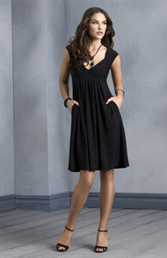 Sleeveless Black Empire Straps Little Black Dresses, Style Code: 02588, US$79.00