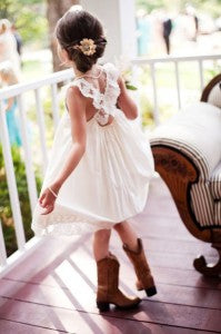 cute cowgirl flower girl