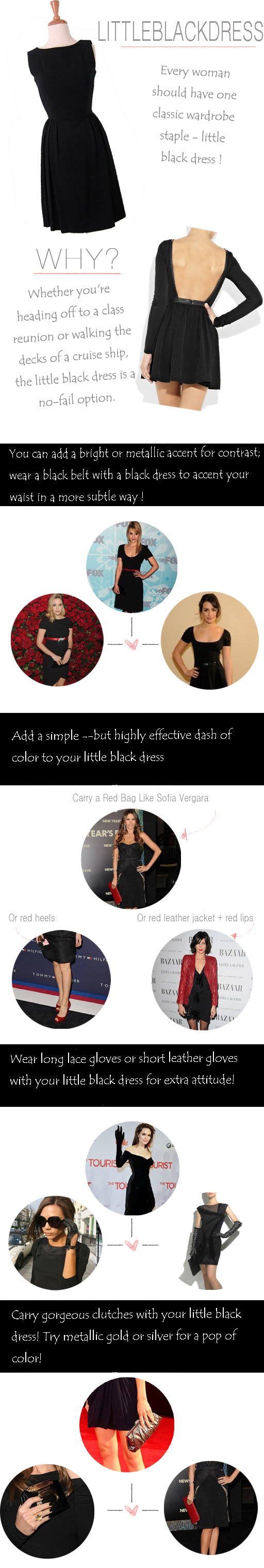 little black dress tips