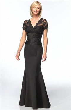 Floor-length Trumpet/ Mermaid V-neck illusion Black Tie Event, Style Code: 01126, US$129.00