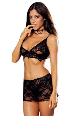 Black Micro Lingerie Sets Sexy Lingeries, Style Code: 06941, US$10.99