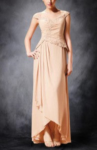 champagne mother of the bride dress 01711