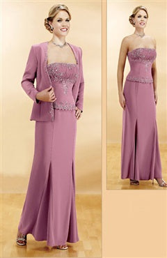 Strapless Coat/ Jacket Sheath Ankle-length Mother's Dresses, Style Code: 01841, US$145.00