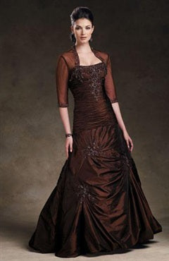 Floor-length A-line Strapless Coat/ Jacket Mother of the bride dresses, Style Code: 02481, US$129.00