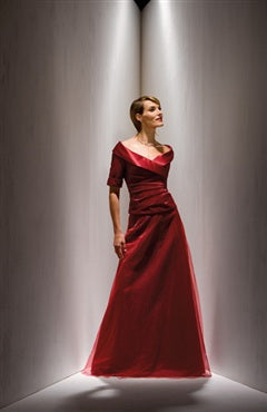 Reds V-neck Floor-length A-line Ruffles Mother's Dresses, Style Code: 06040, US$119.00