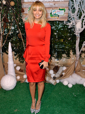 nicole richie red cocktail dress