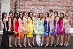 Differently Colored Bridesmaid Dresses