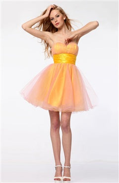 A-line Mini Oranges Homecoming Dresses, Style Code: 05987, US$94.00