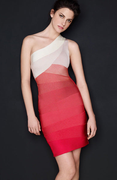 One Shouder Ombre Bandage Dress, Style Code: 10415, US$86.00
