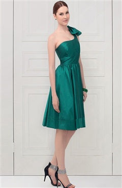 Shoulder Bow Asymmestric A-Line Dress, Style Code: 09530, US$82.00