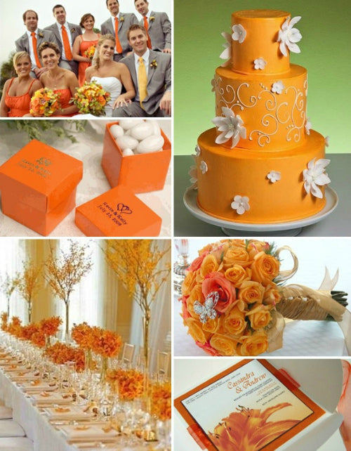 orange wedding colors