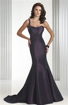 sleeveless brush train black tie event dress 00084