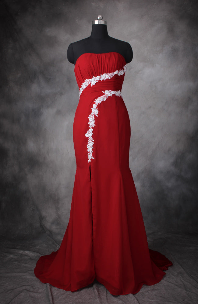 Applique Sweatheart Front Slit Prom Dress, Style Code: 10512, US$138.00