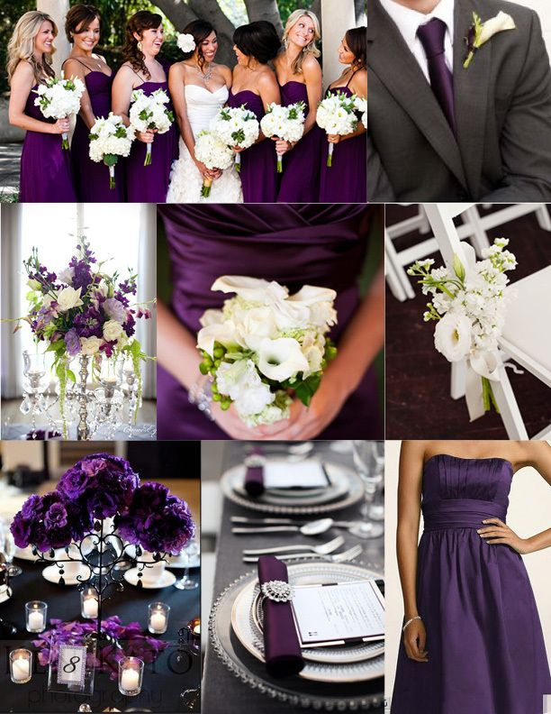 purple bridesmaid dresses and wedding inspiration