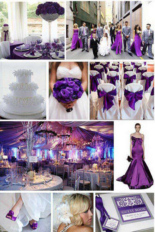 orchid and purple wedding