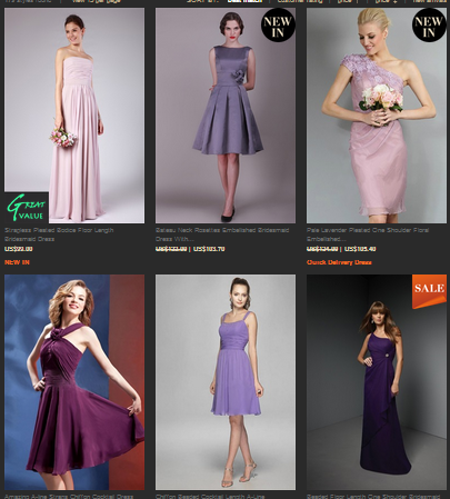 purple bridesmaid dresses at outerinner