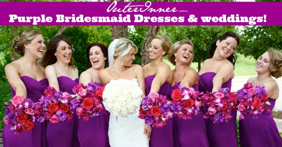 purple bridesmaid dresses and weddings