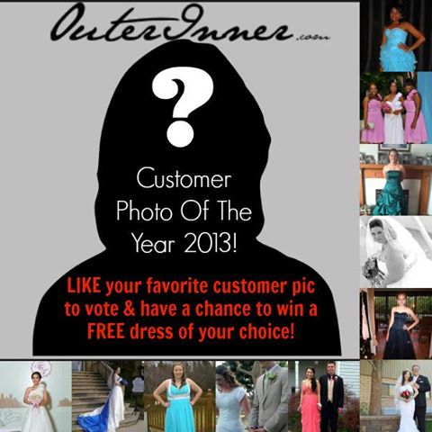 Top OuterInner.com Customer Photos Of 2013 contest! Win a FREE dress!