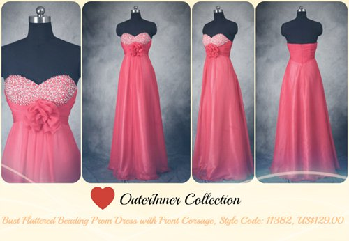 pink dress with beading 11382