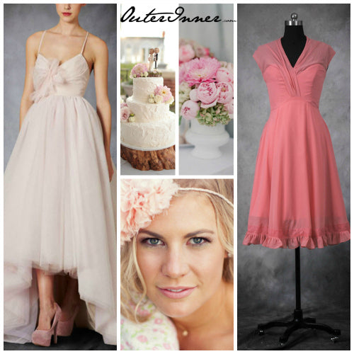 different uses of pink in weddings