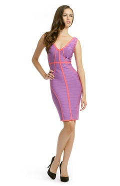 Piped Color Block Bandage Casual Dress, Style Code: 08401, US$86.00