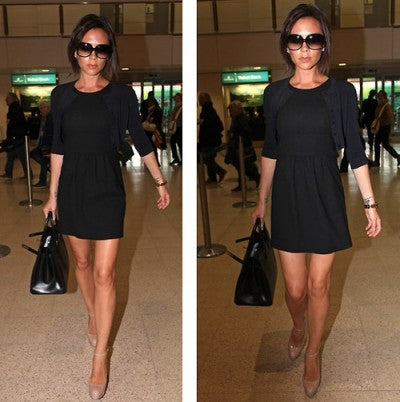Victoria Beckham in little black dress