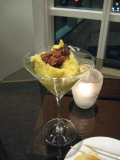 Mashed Potato In Martini Glasses