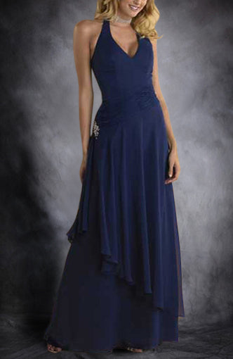 Blues Halter Floor-length Beading Homecoming Dresses, Style Code: 00202, US$89.00
