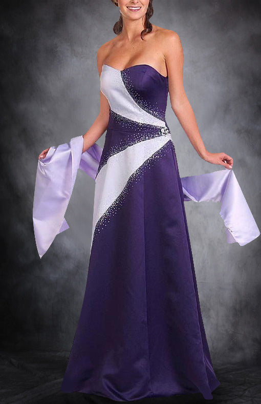 Purples Sleeveless A-line Sweep/ Brush Train Black Tie Event, Style Code: 00554, $109