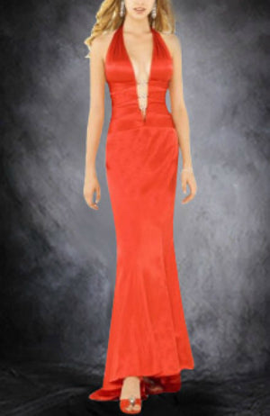 Sweep/ Brush Train Trumpet/ Mermaid Ruffles Elastic Woven Satin Black Tie Event, Style Code: 00673, US$104.00