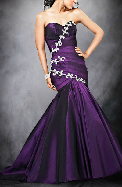 Trumpet/ Mermaid Sweetheart Sleeveless Applique Evening Wear, Style Code: 05447, US$134.00
