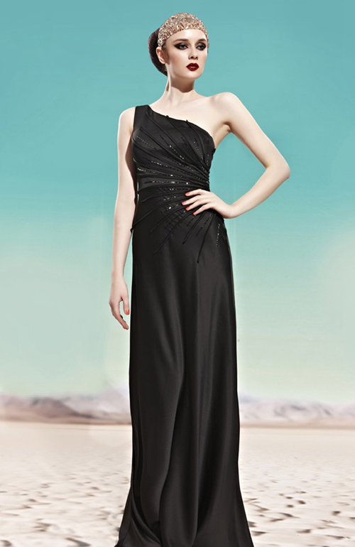 Asymmetric Side Radiated Detail 2013 Prom Dresses, Style Code: 09123, US$169.00