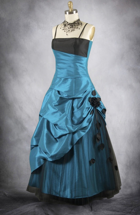 Bi Color Pick Up Floral Draping Prom Dress, Style Code: 11063, US$149.00