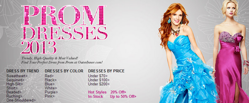 prom dresses hot categories