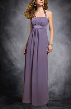 Purple Halter Empire Waist Sheath Bridesmaid Dress, Style Code: 01618, $89