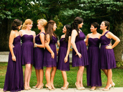 bridesmaid dresses in same color different styles - Bridesmaid Dresses Same Color Different Style
