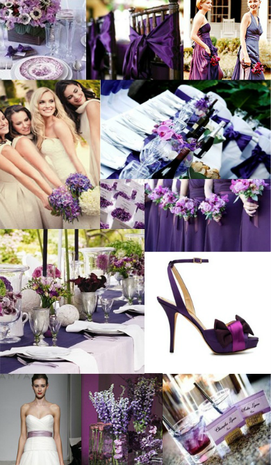 purple wedding colors board