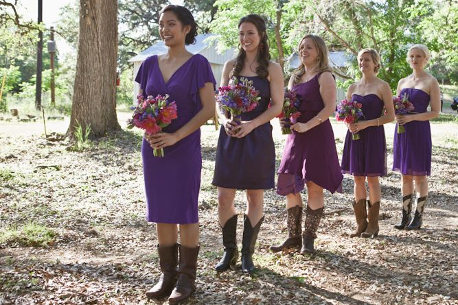 purple bridesmaid dresses in summer