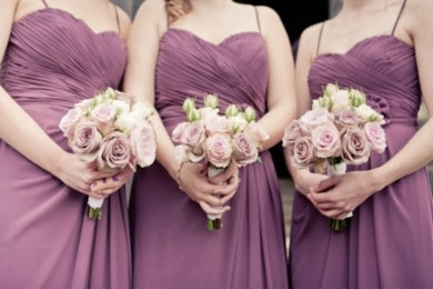 radiant orchid bridesmaid dresses