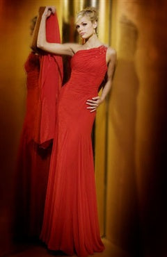 One Shoulder Floor-length Reds Sleeveless Black Tie Event, Style Code: 00697, US$119.00