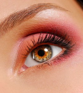 red with orange eyeshadow