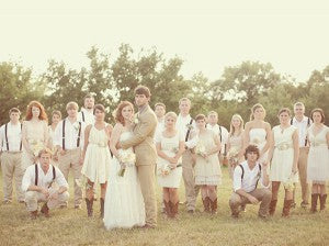 rustic weddings party