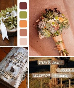 rustic weddings colors