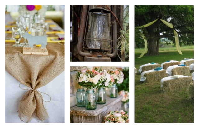 rustic weddings elements