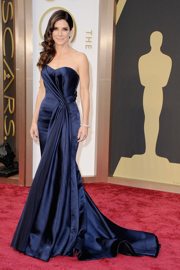 Sandra Bullock red carpet dresses