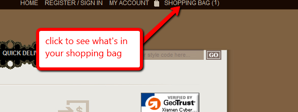 shopping bag screen