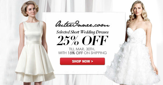 short wedding dresses sale march 2014