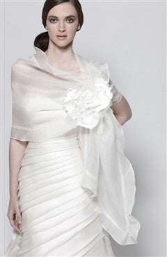 silk organza shawl which is good for weddings